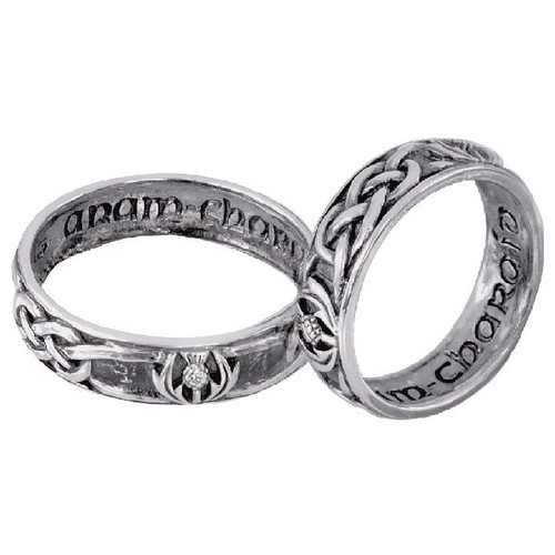 Celtic Silver Wedding / Commitment Ring