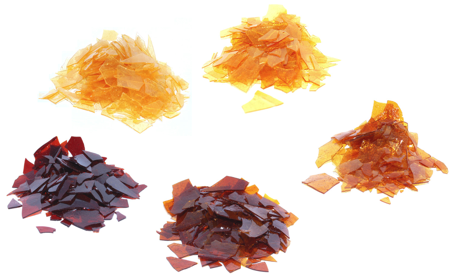 These are varieties of shellac used to make jelly beans.