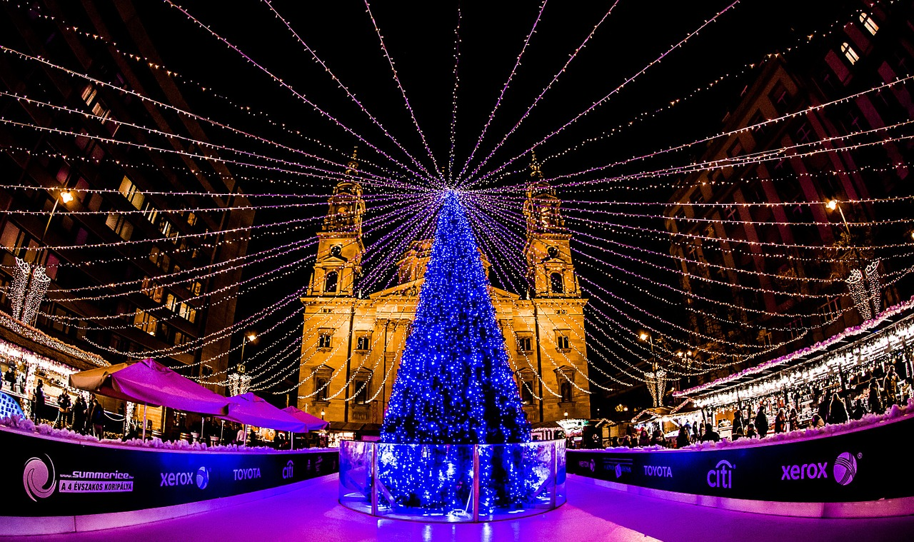 christmas lights christmas lights budapest