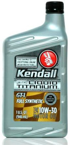 Kendall GT-1 Full Synthetic 10w-30 Liquid Titanium | 12/1 Quart Case