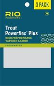 Rio Powerflex Plus Leader - 3 Pack