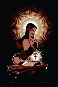 HOLY LOWRIDER PINUP GIRL
