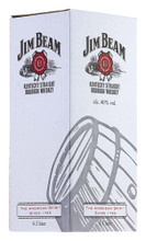 Jim Beam White Label Bourbon Whiskey & Cradle 4.5 Litres