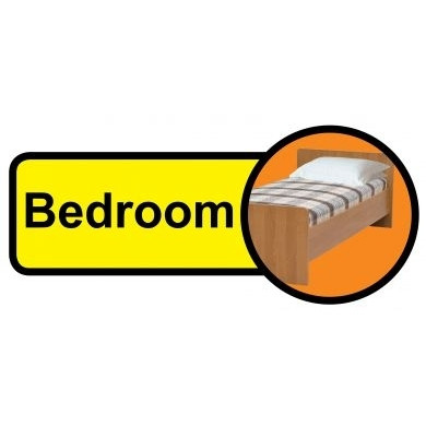 Bedroom Sign Dementia Friendly 48cm X 21cm