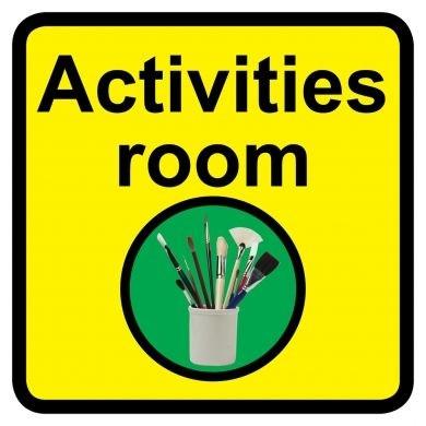 Activities Room Sign Dementia Friendly 30cm X 30cm