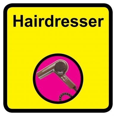 Hairdresser Sign Dementia Friendly 30cm X 30cm