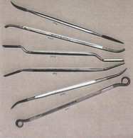 Diamond Rifflers 001 (at bottom) through 006 (top