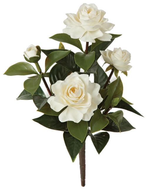 14 Inch Outdoor Gardenia Bush - White