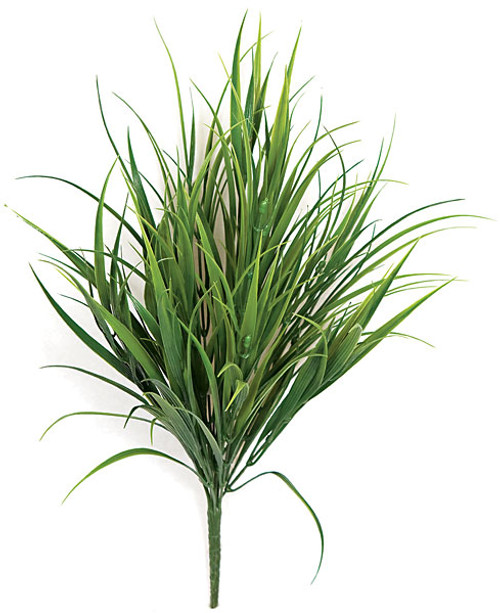 18 Inch Outdoor Grass Bush - Regular or Fire Retardant