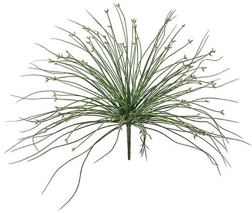 18 Inch Outdoor Grass Bush - Green/Grey