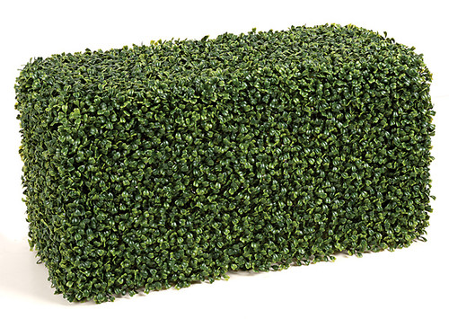 24 x 12 x 12 Inches Outdoor Boxwood Hedge - Traditional Leaf