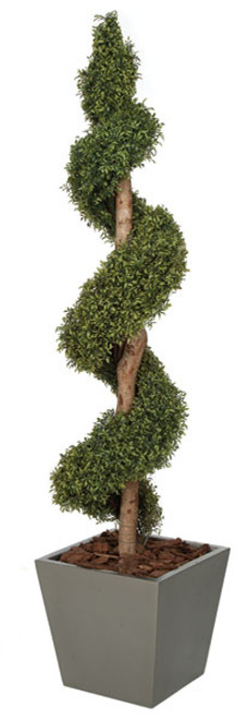 6 Foot Polyblend Polycaise Spiral Topiary
