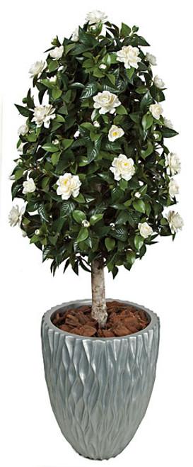 4.5 Foot Polyblend Gardenia Topiary