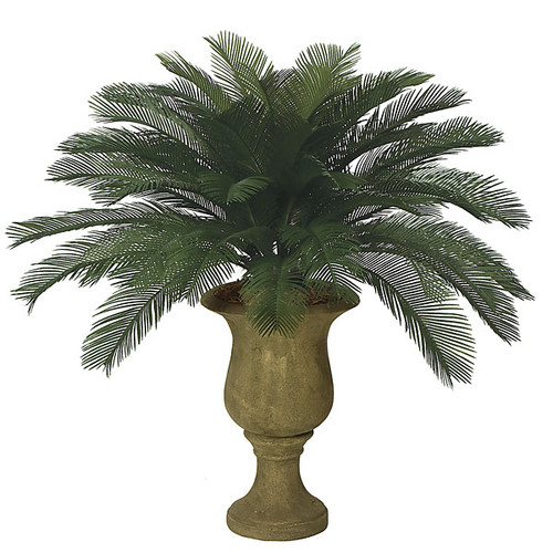 3 Foot Polyblend Cycas Palm, 48 Fronds