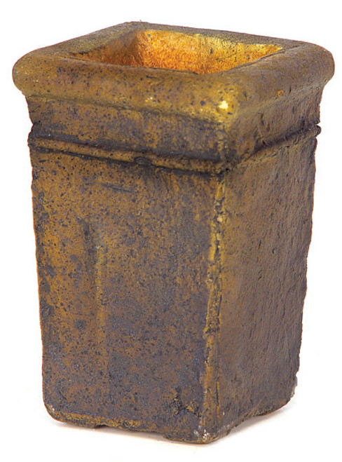 6 Inch Lightweight Square Vases - Rust or Green/Brown