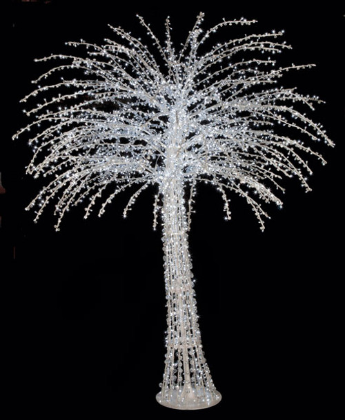 6 Foot Lighted Crystal Fashion Trees