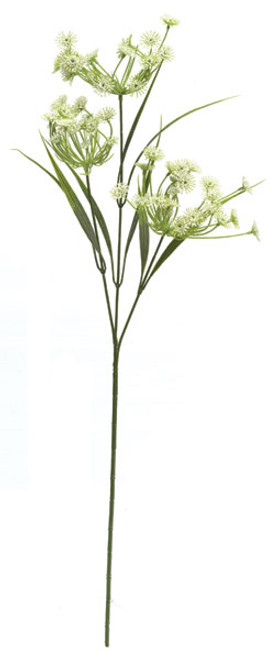 26 Inch Plastic Queen Anne's Lace Spray