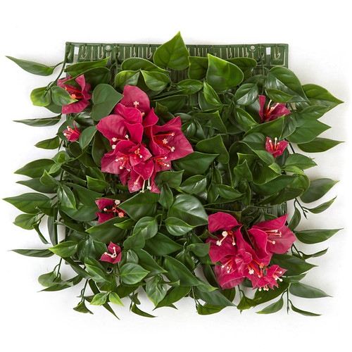 10 Inch Plastic Bougainvillea Mat - Fuchsia Pink
