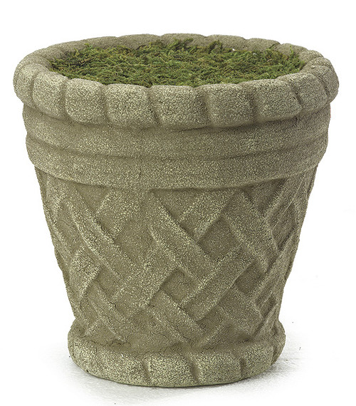 6.5 Inch Round Foam Pot with Moss