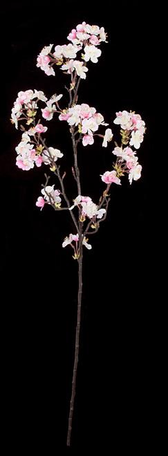 35 Inch Apple Blossom Spray - Cream/Pink (Regular or IFR)