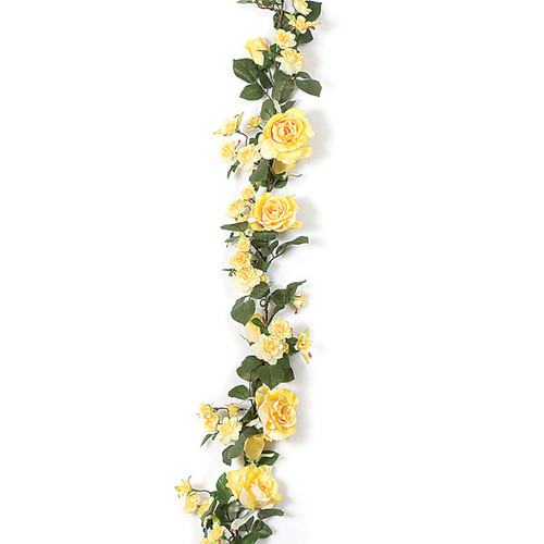 6 Foot Rose Garland - Yellow