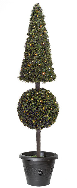 6 Foot PVC Square Cone Topiary