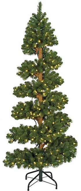 7 Foot PVC Spiral Spruce Tree