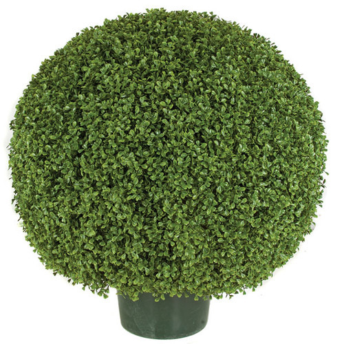 20 Inch, 24 Inch, 30 Inch - UV Boxwood Ball Topiary
