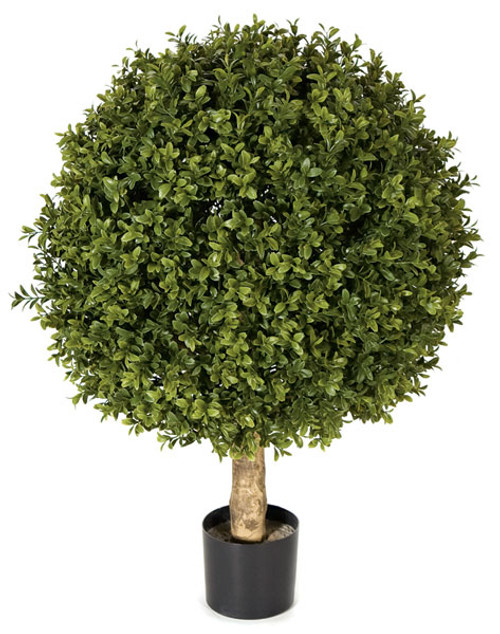 24 Inch UV Boxwood Ball Topiary