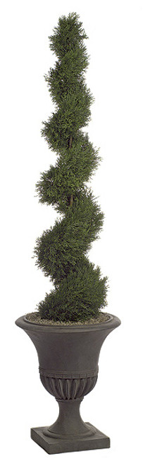 6 Foot UV Rated Spiral Cypress Topiary