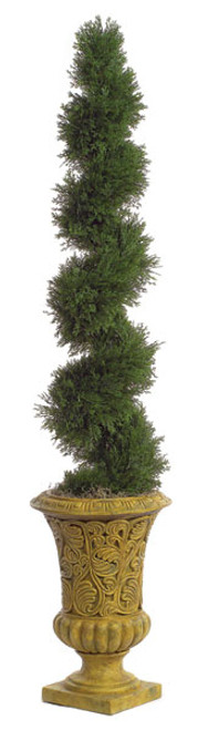 5 Foot UV Rated Spiral Cypress Topiary