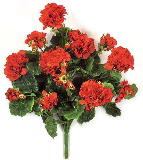17 Inch Red Geranium Bush