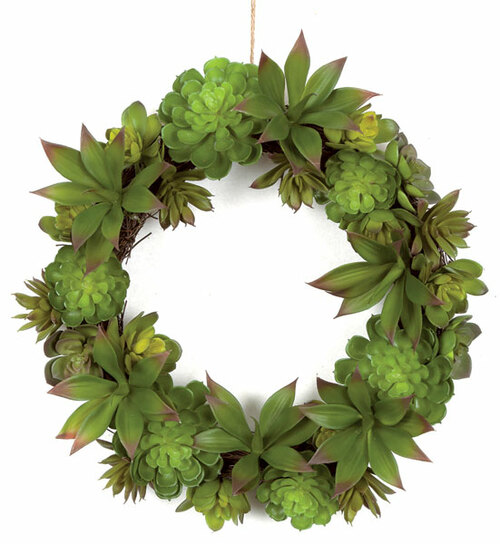 16 Inch Succulent Twig Wreath