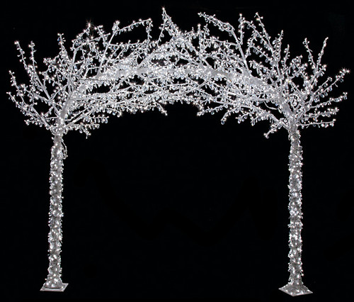 9 L x 8.25 H Foot LED Crystal Arch Tree - Multi or White