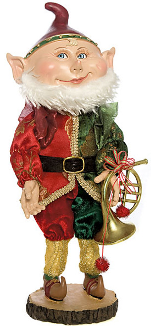 15 Inch Elf with French Horn