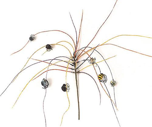 18 Inch Halloween Grass w/ Spiders