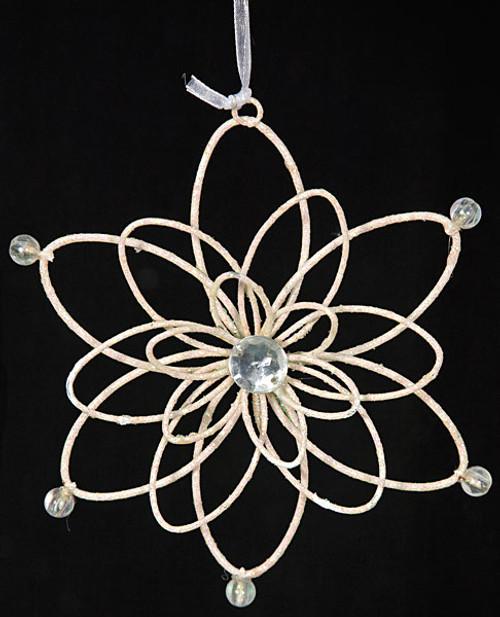5.5 Inch Glitter Snowflake Ornament