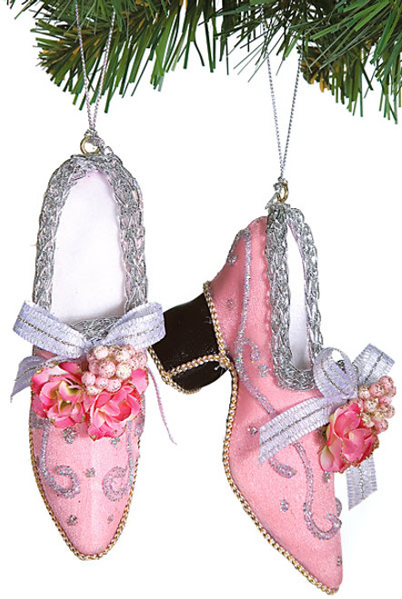 5 Inch Pair of Shoes Ornament-Pink