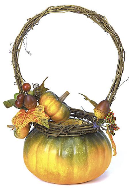 11 Inch Pumpkin Basket