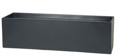 35.5 x 10 x 10 Inch  Rectangle Window Box - Dark Grey