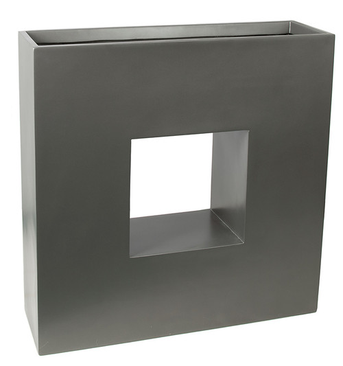 35 x 10.5 x 35 Inch  Rectangle Planter Box - Gloss Black, Charcoal, Bronze