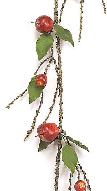 5 Foot Apple Garland w/ Leaves