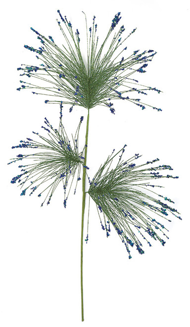 33 Inch Glittered Needle Pine Spray - 6 Colors