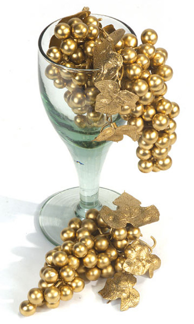 7 Inch Gold Grape Cluster (SOLD BY THE DOZEN)