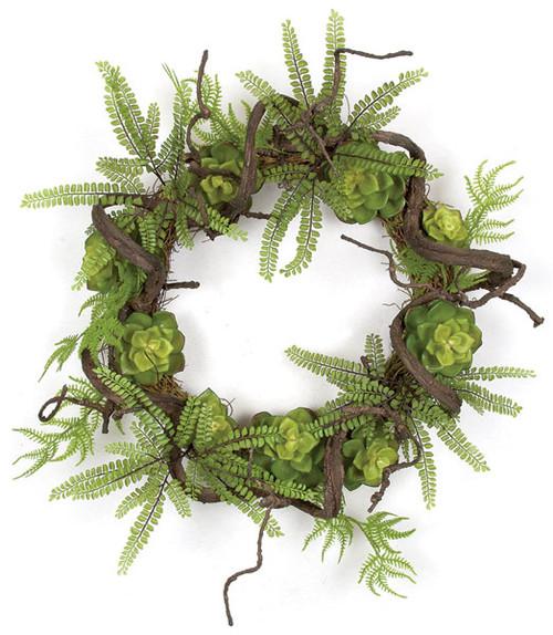 24 Inch Succulent Twig Wreath