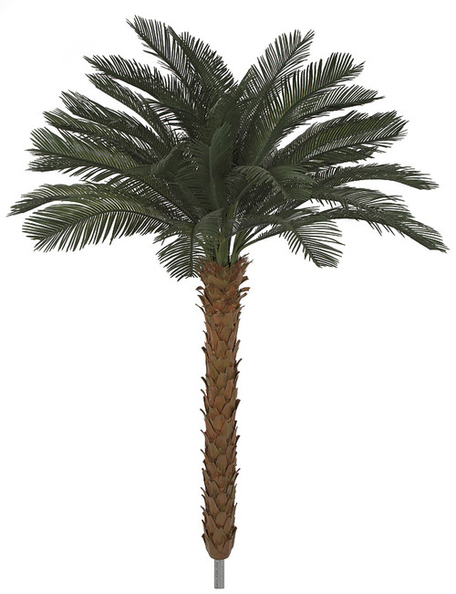 4.5 Feet x 48 Inch Width Polyblend Cycas Palm Trees - using A-019 Branch
