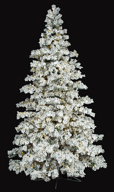 EZ Plug / Multi-Function Heavy Flocked Trees - 7.5 Ft., 10 Ft., and 12 Ft.