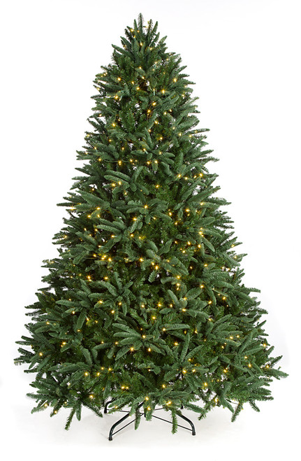 7.5 and 9 Foot PE/PVC Blue Mountain Spruce Tree with Green Tips
