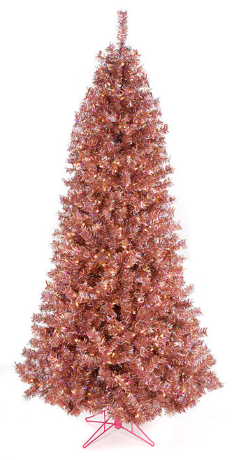 7 5 Foot Rose Gold Tinsel Slim Tree Autograph Foliages