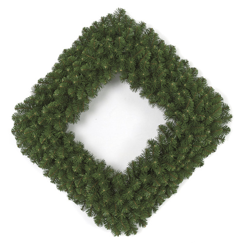 36 Inch Square Pine Wreath